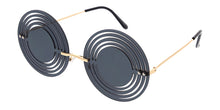 4997 Unisex Metal Medium Round Cut Out Rimless Novelty Frame
