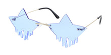 4999 Unisex Metal Medium Dripping Stars Rimless Novelty Frame
