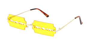 5006 Unisex Metal Small Rimless Razor Blade Novelty Frame