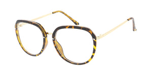 6026CLR Women's Combo Medium Rounded Square Frame w/ Clear Lens