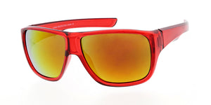 6045ME/RV Men's Plastic Casual Large Thick Frame w/ Color Mirror Lens