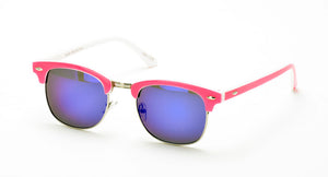 6067NEO/RRV Unisex Classic Combo Clubber w/ Neon Frame and Color Mirror Lens