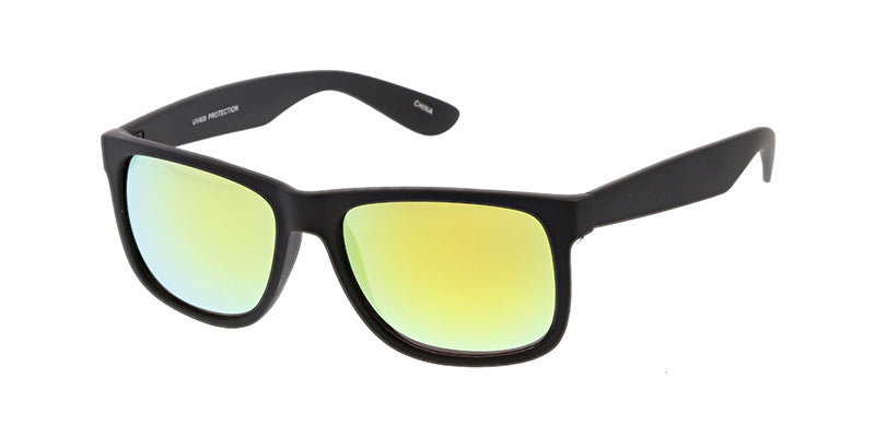 a22d20875cfd ... 6079RV Men's Casual Plastic Square Soft Rubberized Finish Frame w/  Color Mirror ...