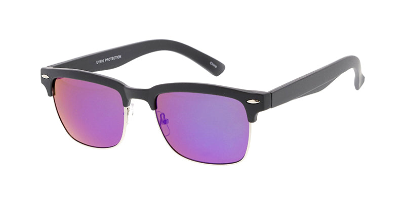6101RV Unisex Combo Medium Square Clubber w/ Color Mirror Lens