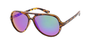 6182RV Unisex Plastic Medium Aviator w/ Color Mirror Lens