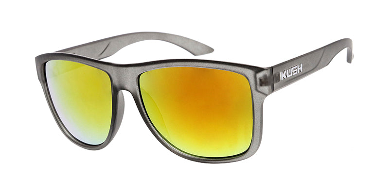 6306KSH/RV KUSH Plastic Crystal Smoke Frame w/ Color Mirror Lens