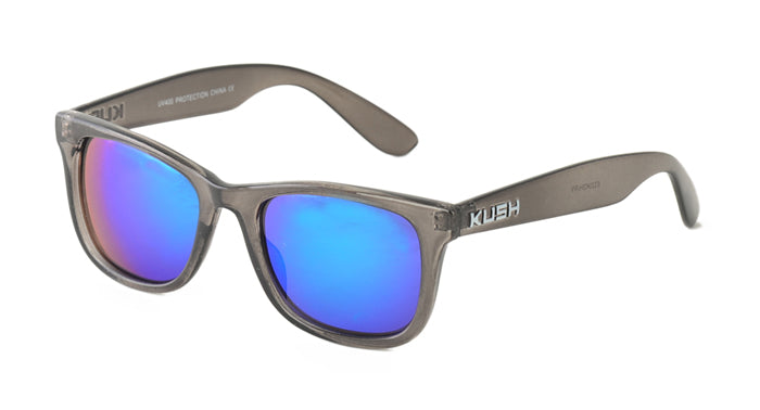 6320KSH/RV KUSH Plastic Crystal Smoke Frame w/ Color Mirror Lens