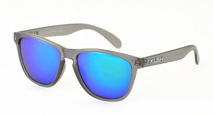 6329KSH/RV KUSH Plastic Crystal Smoke Frame w/ Color Mirror Lens