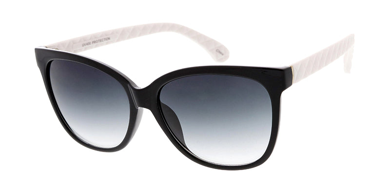6359 Women's Plastic Large Square Frame w/ Quilted Temples