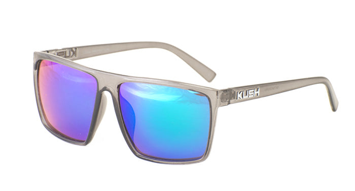 6478KSH/RV KUSH Plastic Crystal Smoke Frame w/ Color Mirror Lens