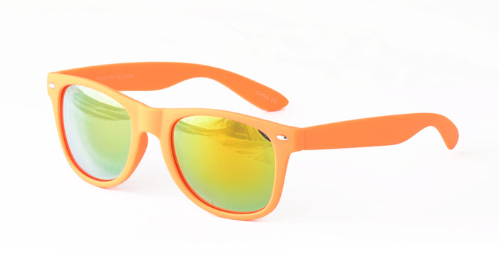 6485SFT/RV Unisex Plastic Classic Soft Rubberized Finish Color Frame WF w/ Color Mirror Lens