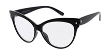 6605CLR Women's Plastic Large Cat Eye Frame w/ Clear Lens