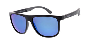 6687KSH/RV KUSH Plastic Large Flat Top Double Injection Rubber Insert Frame w/ Color Mirror Lens