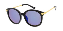 6714RV Women's Plastic Large Round Frame w/ Color Mirror Lens