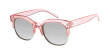 6732CRY/RV Women's Combo Medium Chunky Brow Line Crystal Color Frame w/ Color Mirror Lens