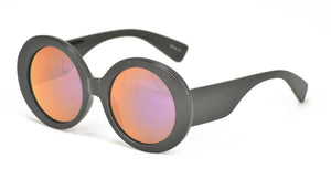 6753RV Women's Large Plastic Round Frame w/ Color Mirror Lens