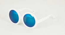 6887RV Women's Large Plastic Round Frame w/ Color Mirror Lens