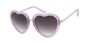 6915HRT/GLT Women's Plastic Large Crystal Color Glitter Heart Shaped Frame