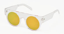 6937RV Unisex Plastic Flat Top Thick Frame w/ Color Mirror Lens