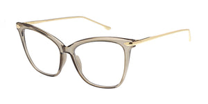 6970CLR Women's Plastic Cat Eye Metal Temples w/ Clear Lens