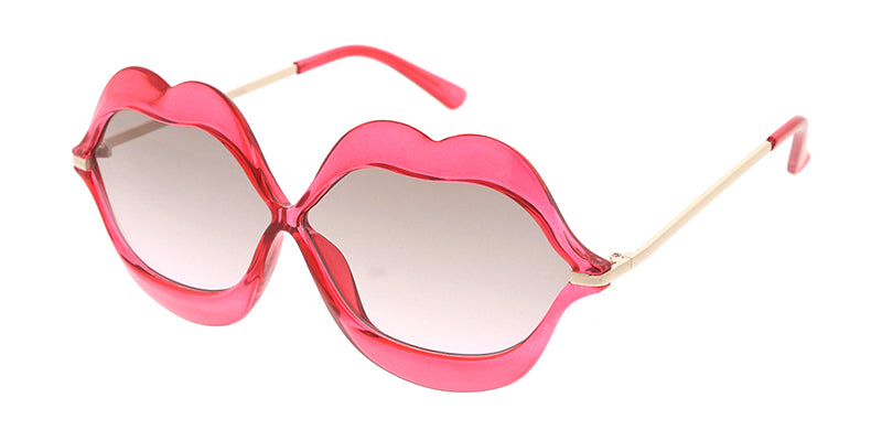 6997CRY Women's Plastic Lips Crystal Color Frame