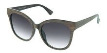 7029 Women's Plastic Large Woodgrain Cat Eye Frame
