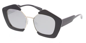 7051RV Women's Combo Large Geometric Chunky Designer Frame w/ Color Mirror Lens