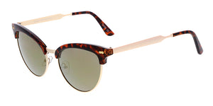 7090RV Women's Combo Cat Eye Clubbers w/ Color Mirror Lens