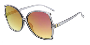 7115RV Women's Plastic Extra Large Frame w/ Color Mirror Lens
