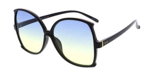 7116COL Women's Plastic Extra Large Frame w/ Two-Tone Lens