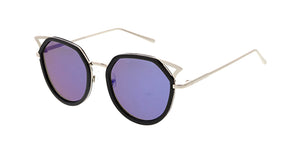 7126RV Women's Combo Cat Eye w/ Color Mirror Lens