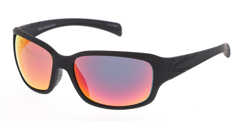 7174ME/RV Men's Plastic Casual Soft Rubberized Finish Frame w/ Color Mirror Lens