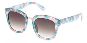 7196 Women's Plastic Large Chunky Multi Color Print Frame