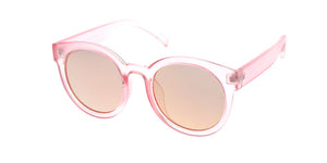 7213CRY/REV Women's Plastic Round Crystal Color w/ Mirrored Lens