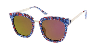 7224RV Women's Combo Large Rectangular Multi Color Print Frame w/ Color Mirror Lens