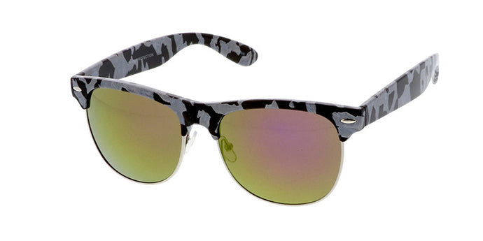7261RV Women's Clubbers Block Tortoise w/ Color Mirrored Lens