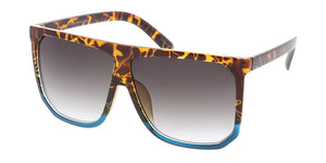 7266 Women's Plastic Large Square Flat Top Frame