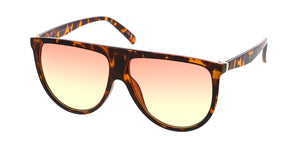 7282COL Women's Plastic Large Flat Top Designer Frame w/ Two Tone Lens