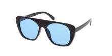 7304COL Unisex Retro Plastic Flat Top w/ Color Lens