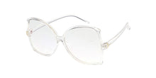 7314CLR Women's Plastic Large Vintage Inspired Butterfly Blue Light Filtering Clear Lens Computer Glasses