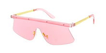 7329COL Unisex Plastic Medium Flat Top Monochromatic Half Frame w/ Color Lens