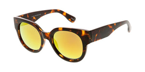 7355RV Women's Plastic Frame w/ Color Mirror Lens