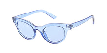 7363CRY/COL Women's Plastic Cat Eye Crystal Color Frame w/ Color Lens