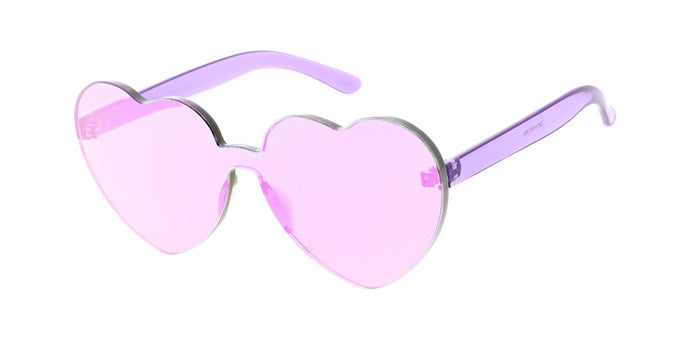 7371HRT/RV Women's Plastic Heart Color Block w/ Color Mirror Lens
