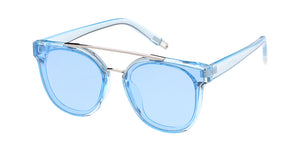7400CRY/COL Women's Plastic Large Crystal Monochromatic Frame w/ Color Lens