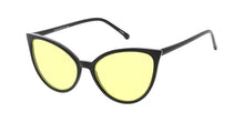 7403COL Women's Plastic Medium Thin Cat Eye Frame w/ Color Lens