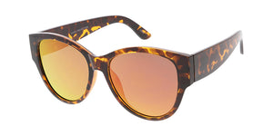 7439RV Women's Plastic Large Chunky Frame w/ Color Mirror Lens