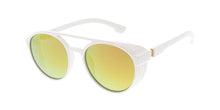 7455RV Unisex Plastic Medium Aviator Side Shield Frame w/ Color Mirror Lens