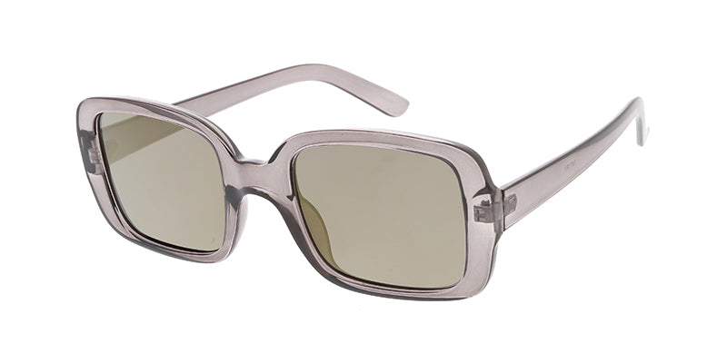 7471RV Women's Plastic Medium Square Frame w/ Color Mirror Lens