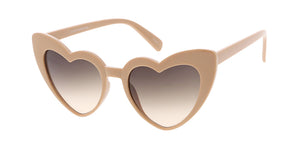 7476HRT/COL Women's Plastic Large Heart Frame w/ Two Tone Lens
